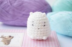 Crochet amigurumi Snow creature toy cute by CuteLambKnitting