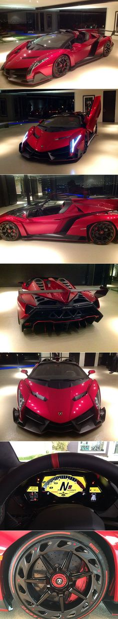 $4.5-Million Lamborghini Veneno Roadster Supercar