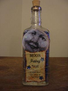 altered bottles   moon fairy dust altered bottle   Flickr - Photo Sharing!