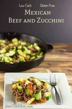 This low carb Mexican zucchini and ground beef recipe is a simple dish made with low cost ingredients. It's an easy low carb high fat dinner recipe perfect for summer. We had a really good zucchini… Paleo Recipes, Mexican Food Recipes, Low Carb Recipes, Cooking Recipes, Easy Recipes, Top Recipes, Recipes Dinner, Protein Recipes, Shrimp Recipes