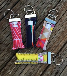 Learn how to make a cute Key Fob with a lip balm holder with this free tutorial.