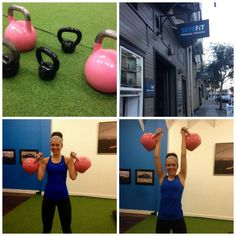 Ashley with kettlebells via A Lady Goes West @jointvintsf @joinvint http://aladygoeswest.com/2015/02/09/the-weekend-my-workouts-and-the-new-vint-app/