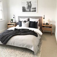 Simple Style Co Homewares, Home Decor & Interior Styling Melbourne is part of Bedroom decor inspiration - Bedroom Apartment, Home Decor Bedroom, Apartment Living, Spare Bedroom Ideas, Spare Room, Master Bedrooms, Bedroom Inspo, Urban Chic Bedrooms, Bedroom Ideas Grey