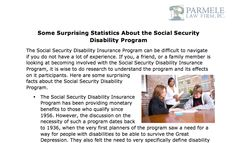 http://parmelelawfirm.com/  Parmele Law Firm, PC shares important facts about Social Security Disability Program