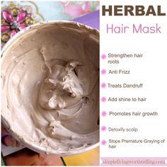 Simple Living Worth Telling !: HERBAL HAIR MASK