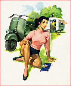 From a 1950s Vespa calendar.