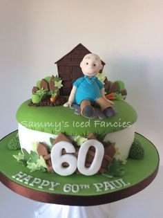 Garden shed and allotment cake
