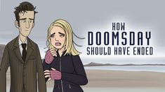 How Doctor Who: Doomsday should have ended. An animated short hahah it's pretty cute