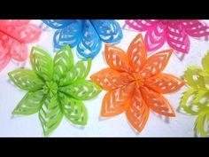 Easy Decoration Ideas: How To Make This Colored Paper Floral Decor - YouTube
