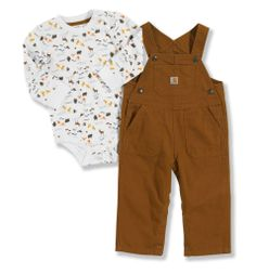 Carhartt - Product - Infant Boy's Washed Canvas Bib Overalls Set