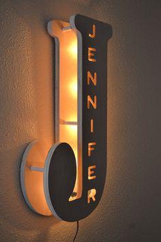 Lámpara de la habitación del niño personalizada por MasterWorks888