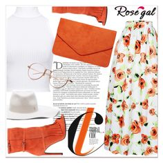 """""""Orange. Rosegal 18"""" by nerma10 ❤ liked on Polyvore featuring WearAll, Balmain, Gucci, Dorothy Perkins and Maison Michel"""