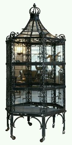 Cocos Collection: Antique inspired #bird cage can add elegance to a utilitarian #aviary