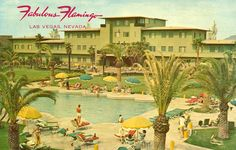 Flamingo Hotel Vegas - I love this vintage post card.  Had it at one time.