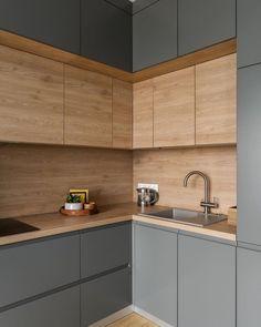 New Kitchen Interior, Kitchen Room Design, Home Decor Kitchen, Home Kitchens, Cool Room Designs, Kitchen Dining Living, Dressing Room Design, Diy Kitchen Storage, Cuisines Design