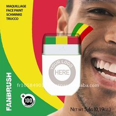 Flag face paint stick, world cup 2014