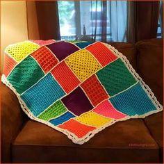 Crochet Tutorial: Dream-Time Mosaic Baby Quilt http://www.freecrochettutorials.com/tutorials/yarnutopia-intermediate-crochet-tutorial-dream-time-mosaic-baby-quilt/