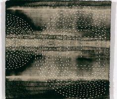 art journal inspiration / ideas - judith james stitch resist discharge