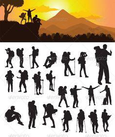 Backpacker Silhouette