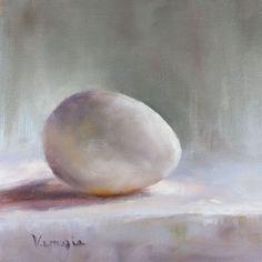 Egg Painting Print of Oil Painting Still life Food by veneziaart