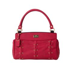 *Miche Canada* Suede faux leather is soft and luxurious to the touch, yet Moscows bold red colour is a true showstopper! Youll fall in love with her sophisticated styling featuring gold hardware and side pockets as well as rivet, link and lacing details. Comes with matching handles. Classic handle length 15 ; width 5/8; handle drop 6 . Demi and Prima comes with matching shoulder strap. Strap length 42 ; width 1 ; strap drop 20 . Handle length 15 ; width 5/8; handle drop 6 .