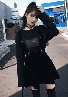 Rags n Rituals 'Goth Doll' velvet dress. - Alternative fashion from RagsnRituals. Gothic outfit, grunge outfit, outfit inspo, alternative style Source by suchahomebody - Grunge Outfits, Edgy Outfits, Korean Outfits, Mode Outfits, Grunge Fashion, Gothic Fashion, Fashion Outfits, Womens Fashion, Dress Fashion