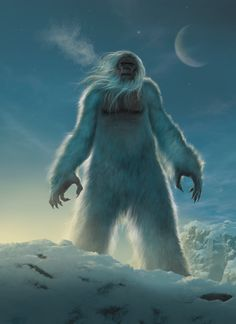 Bigfoot, Yeti, Sasquatch, and other apes on Cryptid-Creatures - DeviantArt Yeti Bigfoot, Bigfoot Sasquatch, Bigfoot 2017, Mythological Creatures, Mythical Creatures, Mountain Monsters, Myths & Monsters, Dnd Monsters, Fiction