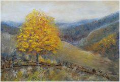 AUTUMN DRESSED HILLS, original painting by Emilia Milcheva, 77x52cm