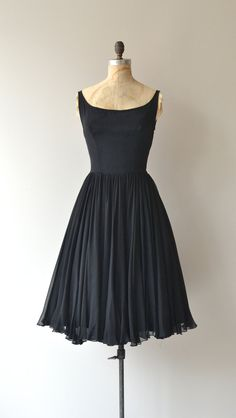 Last Ingenue dress vintage 1950s dress black 50s by DearGolden