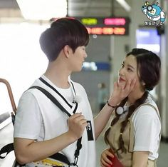 Sungjae with Red Velvet Joy on WGM ❤