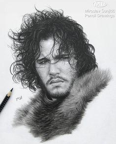 Jon Snow - pencil drawing by Miroslav Sunjkic the Pencil Maestro #gameofthrones #kitharington #jonsnow #georgerrmartin #artwork #fanart #realistic #pencil #drawing #portrait #sketch #pencilmaestro