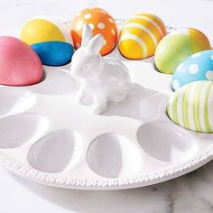 Easter Table Decorations, Deviled Eggs, Easter Eggs, Tray, Shop My, Color, Colour, Trays, Board
