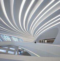 zaha hadid architects (ZHA) has shared the first images of the changsha meixihu international culture & arts centre, a spectacular complex in china. Zaha Hadid Architecture, Le Corbusier Architecture, Zaha Hadid Buildings, Zaha Hadid Interior, Landscape Architecture Drawing, Cultural Architecture, Modern Architecture House, Futuristic Architecture, Architecture Design