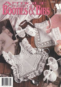 Bibs and Booties Crochet Patterns - 6 Sets of Antique-Style Heirlooms for Baby