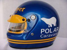 Photo by Diego Lopez Racing Helmets, F1 Racing, Jochen Rindt, Vintage Helmet, Mario Andretti, Sport One, Goalie Mask, F1 Season, Helmet Design