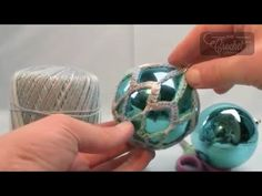 How To Crochet Thread Christmas Balls. As promised in the video, the size of the ball I used was . in diameter. You can use smaller balls, you just need to alter the last line to make the chains smaller to compensate for less distance to cover over the Crochet Ornament Patterns, Crochet Ornaments, Christmas Crochet Patterns, Ball Ornaments, Christmas Tree Bulbs, Diy Christmas Ornaments, Christmas Balls, Crochet Ball, Thread Crochet