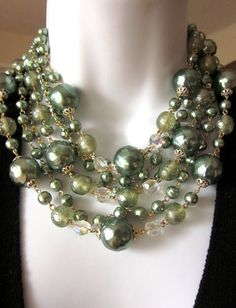 Vintage Pearl Layered Necklace