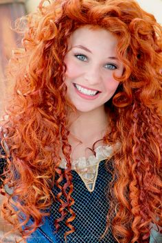 So cute!!!! Brave brought to life! Would totally do this if i had red hair and…