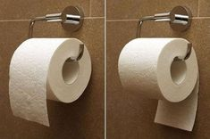 Those who place toilet paper this way have more money