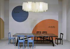 L'Abbate Italia: Milan Furniture Show Achille table - Livia chair. Milan Furniture, Dining Table, Chair, Bed, Pattern, Design, Home Decor, Italia, Dining Room Table