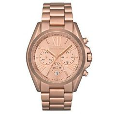 Michael Kors Ladies Bradshaw Chronograph Rose Gold Watch - Casafina