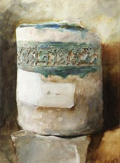 1879+Persian+Artifact+with+Faience+Decoration+graphite+and+watercolour+on+paper+32.4+x+24.1+cm+Private+Collection.jpg 661×901 ピクセル