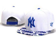 Кепка Snapback New York Yankees (NY) с прямым козырьком (рэперская)