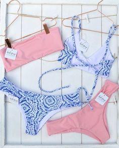Light Pink or Hanalei? Bikinis, Swimwear, Thong Bikini, Swimming, Pink, Shopping, Fashion, Bathing Suits, Swim