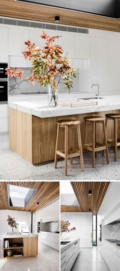 Modern Kitchen Design : Gallery of Courtyard House / FIGR Architecture & Design 12 Design Apartment, Apartment Kitchen, Modern Kitchen Design, Interior Design Kitchen, Stylish Kitchen, Kitchen Dining, Kitchen Decor, Kitchen White, Timber Kitchen