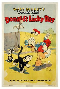 Donald Duck in Donald's Lucky Day.