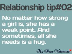 No matter how strong a girl is, she has a weak point. And sometimes, all she needs is a hug. Im kinda starting to actually like your hugs a little. I Love You Words, Reasons I Love You, Still Love You, Boy Quotes, Funny Quotes, Life Quotes, Advice Quotes, Heart Quotes, Love Quotes For Him Romantic