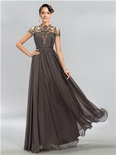 precioso vestido de noche sirena abalorios cuello alto