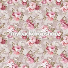 6ft x 6ft Shabby Chic Wallpaper Backdrop for Photography Shoots - Event Backdrop - Item 268
