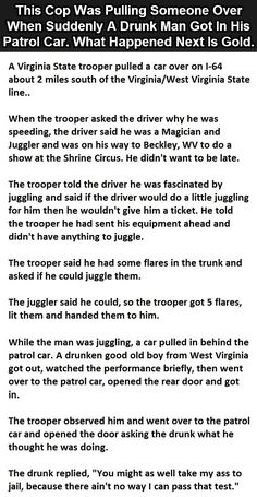This #Cop Was Pulling Someone Over When Suddenly A #Drunk Man Got In His Patrol Car. What Happened Next Is Gold.